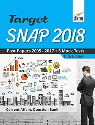 TARGET SNAP 2018 (Past Papers 2005 - 2017) + 5 Mock Tests 10th Edition by Disha Experts