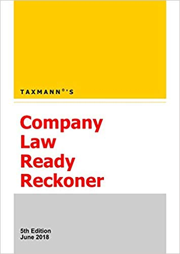 Company Law Ready Reckoner (5th Edition June 2018) Paperback – 2018