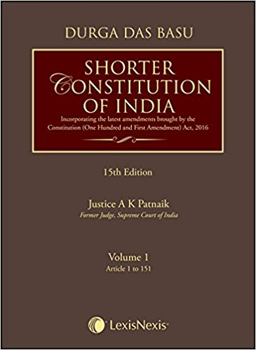DD Basu's Shorter Constitution of India (Set of 2 Volumes) by Durga Das Basu and A.K. Patnaik