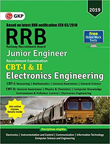RRB (Railway Recruitment Board) 2019 - Junior Engineer CBT -I & II - Electronics Engineering English Medium