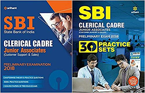 COMBO PACK SBI Clerical Cadre Junior Associates Preliminary Examination WITH 30 Practice 2 Book Set Exam 2018 in English Medium