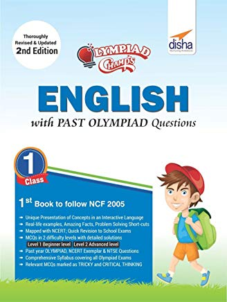 Olympiad Champs English Class 1 with Past Olympiad Questions 2nd Edition by Disha Experts