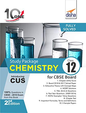 10 in One Study Package for CBSE Chemistry Class 12 with 5 Model Papers 2nd Edition by Disha Experts