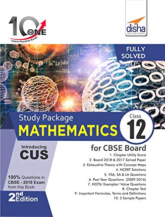 10 in One Study Package for CBSE Mathematics Class 12 with 5 Model Papers 2nd Edition by Disha Experts
