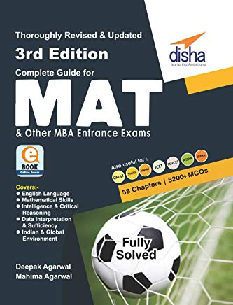 Complete Guide for MAT and other MBA Entrance Exams by Disha Experts