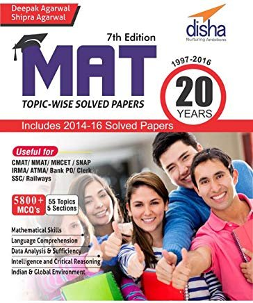 MAT 20 years Topic-wise Solved Papers (1997-2016) by Shipra Agarwal Deepak Agarwal