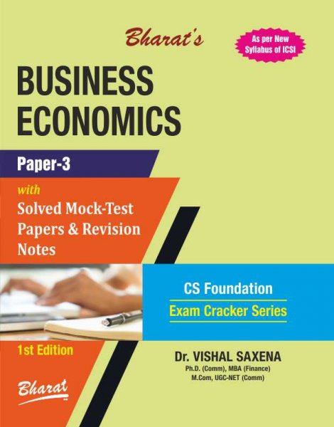 BUSINESS ECONOMICS For CS Foundation Paper 3