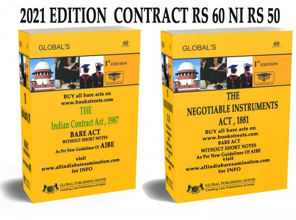 The Contract Act bare act For AIbe Exam , Negotiable Instrument  bare act