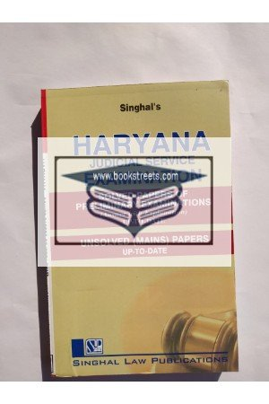 Singhal's Haryana Judicial Service Examination Solved Papers Of Preliminary Examination