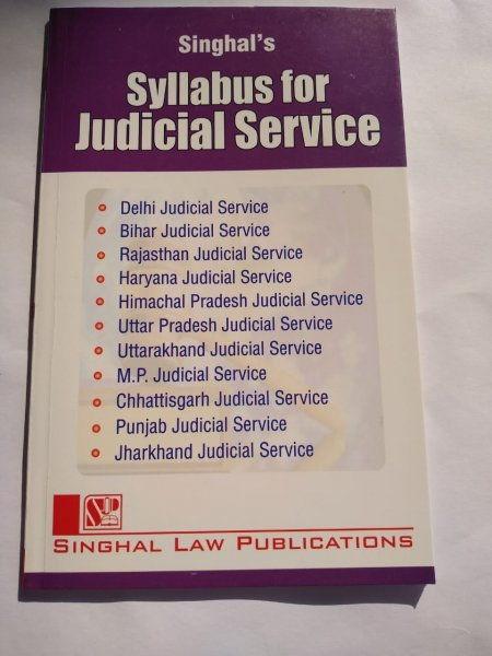 Singhal's Syllabus For Judicial Service