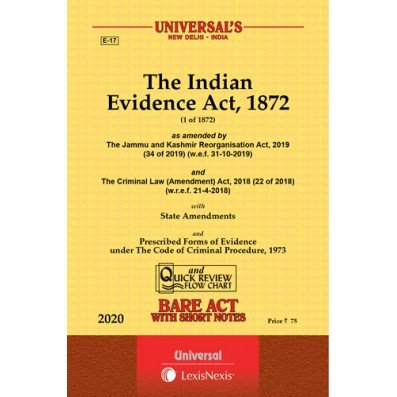 The Indian Evidence Act , 1872 Bare Act By Universal