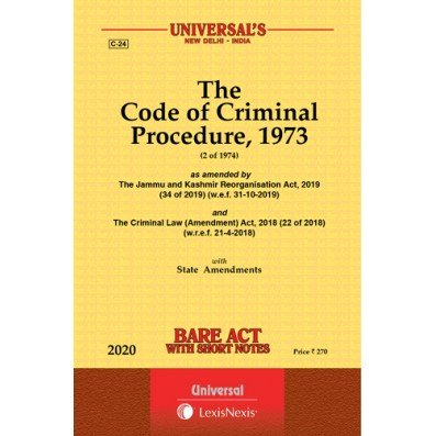 The Code Of Criminal Procedure , 1973 Bare Act By Universal