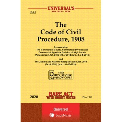 The Code Of Civil Procedure 1908 Bare Act By Universal