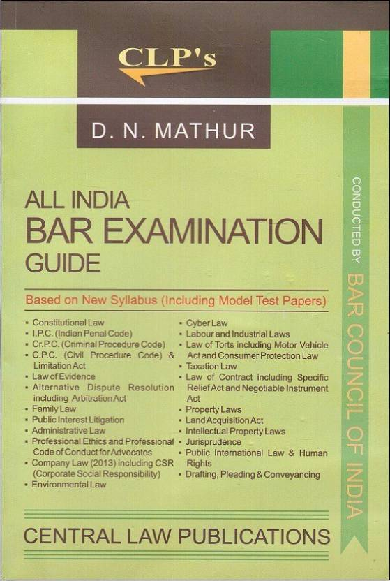 Central Law Publication's All India BAR Examination Guide 2017-18 AIBE New Syllabus] by D. N. Mathur  English, Paperback, D. N. Mathur