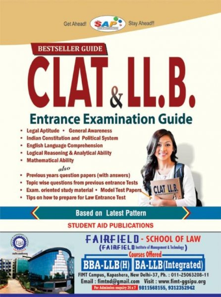CLAT & LL.B. Entrance Examination Guide  English, Paperback, Student Aid Publications
