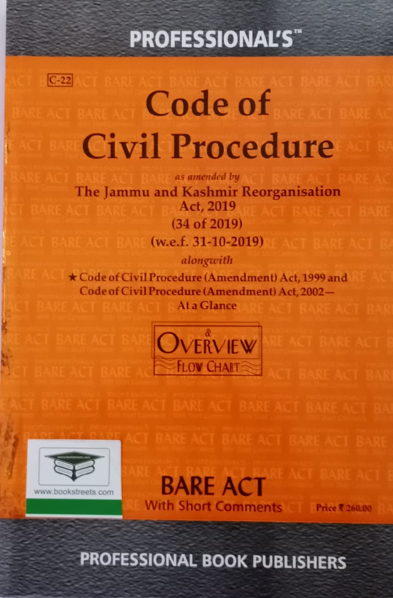 Code of Civil Procedure (The Jammu and Kashmir Reorganisation Act, 2019) by Professional Book Publishers