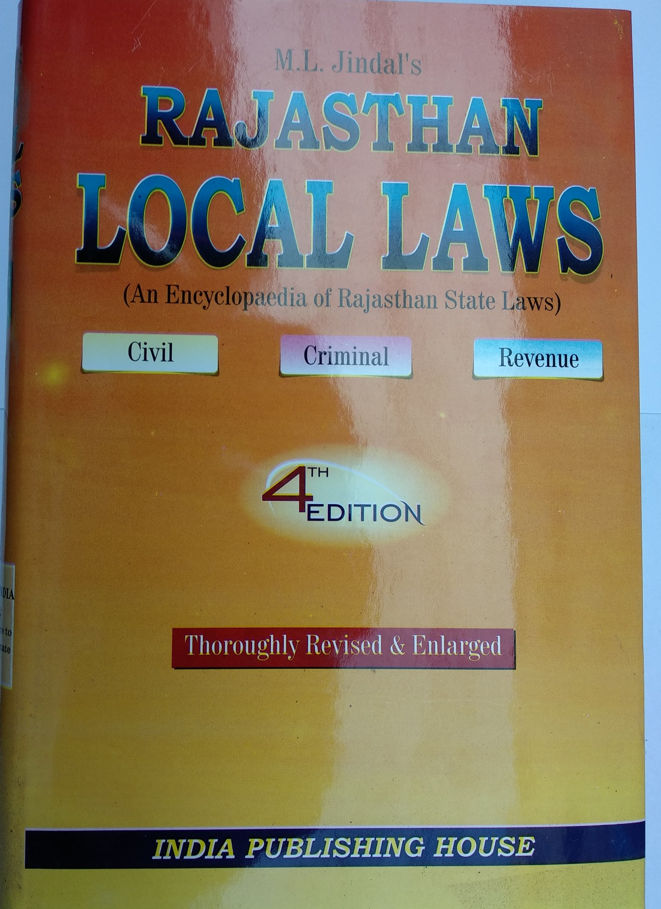 Jindals Local Laws By India Publishing House