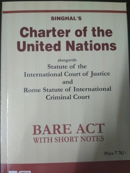 Singhal's Charter Of The United Nations
