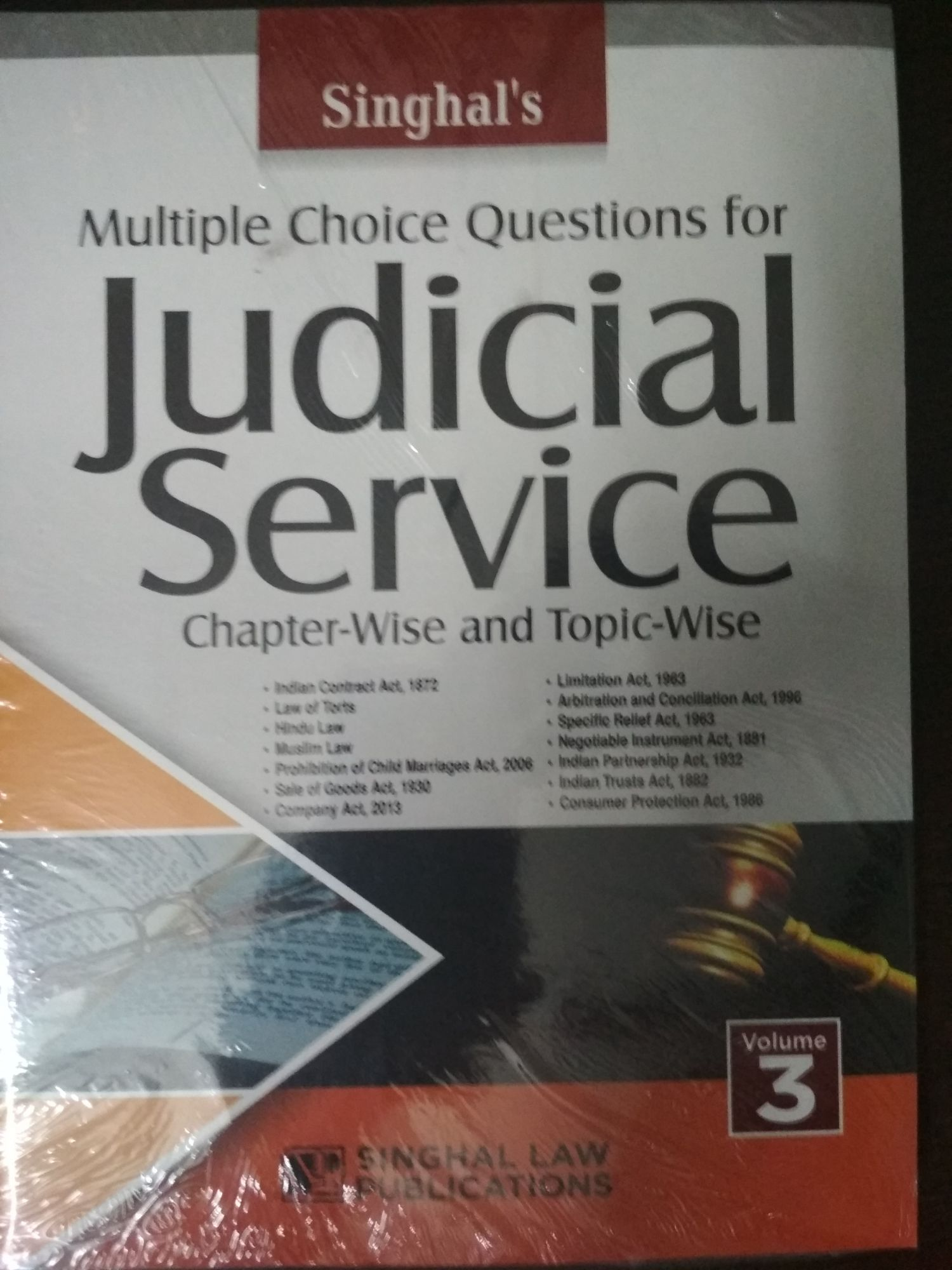 Singhal's Multiple Choice Questions For Judicial Services volume 3