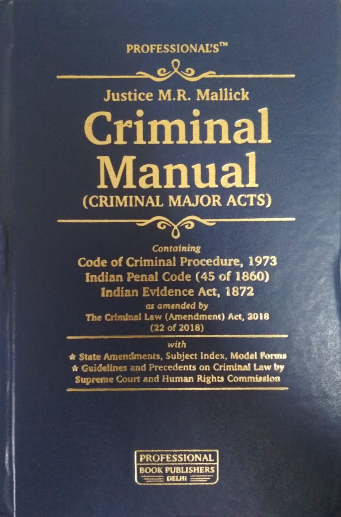 Professional Criminal Manual (Criminal Major Acts) Pocket HB