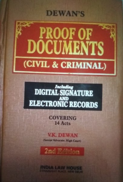 V.K.Dewan Proof Of Document Civil & Criminal