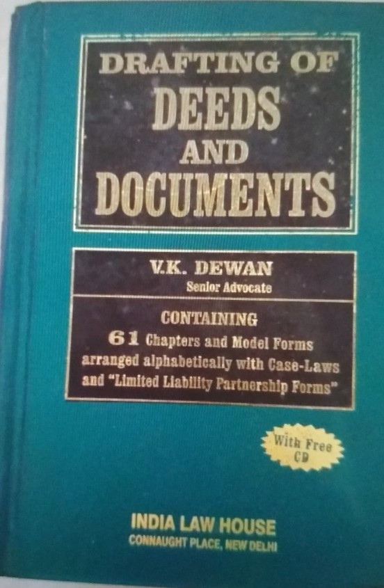 V.K.Dewan Drafting Of Deeds And Documents (CD FREE)