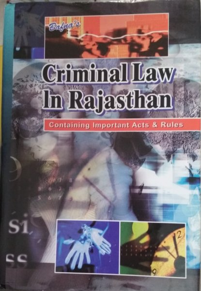 Bafna Criminal Law In Rajasthan Containing Important Acts And Rules English Book