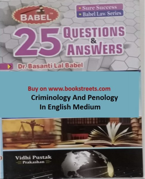 Basanti Lal Babel Criminology And Penology  in English Medium