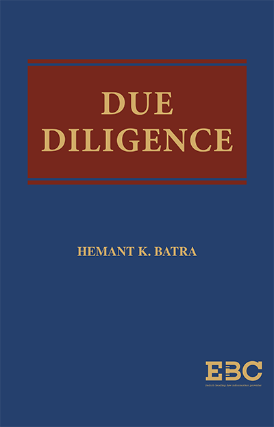 Due Diligence by Hemant K Batra by eastren book company