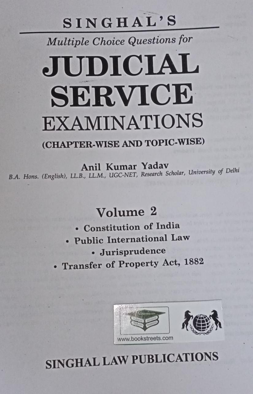 Singhal's Multiple Choice Question for Judicial Service Examination Chapter-wise and Topic wise Volume-2 by Singhal Law Publications