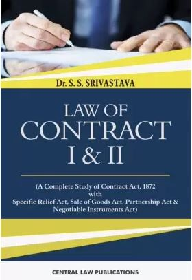SS Srivastava Law of Contract I & II  by Central Law Publications