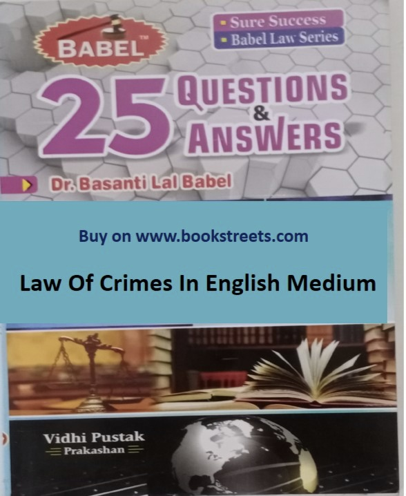 Basanti Lal Babel Law Of Crime in English Medium