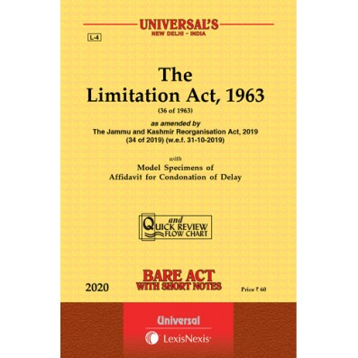 The Limitation Act,1963 Bare Act By Universal