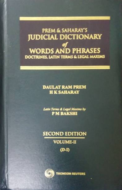 Prem & Saharay's: Judicial Dictionary of Words and Phra... English, Hardcover, Prem, Saharay's in 4 volumes set