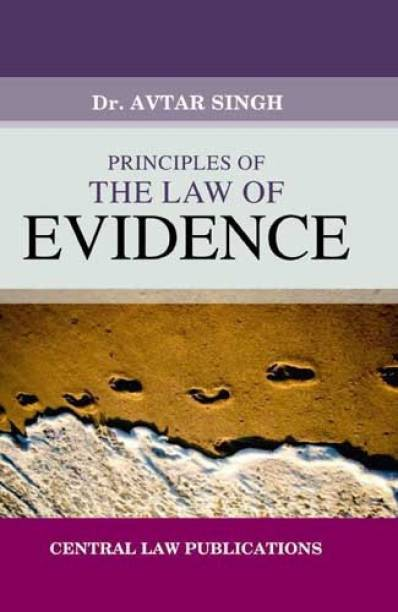 Principles of The Law of Evidence English, Paperback, Avtar Singh