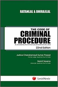 Ratanlal and Dhirajlal's the Code of Criminal Procedure - As amended by the Criminal Law (Amendment) Act, 2013 Paperback – 9 May 2018