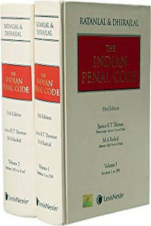 The Indian Penal Code Volume-1 and 2 Hardcover – 27 Nov 2015 by Ratanlal  (Author), Dhirajlal (Author)