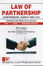 Singhal's Law Of Partnership ( Partnership, Agency And LLP )