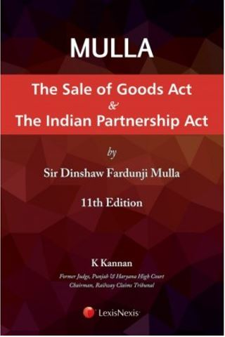Mulla The Sale of Goods Act and The Indian Partnership Act by LexisNexis