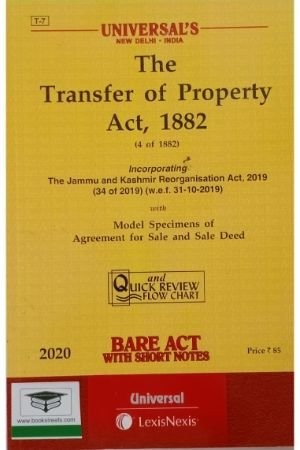 Universal's The Transfer of Property Act, 1882 by Universal Book Publishers