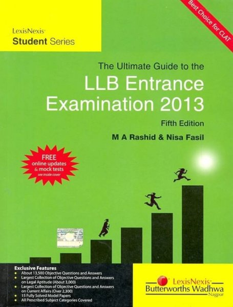 Ultimate Guide to the LLB Entrance Examination 2013  PB 5th Edition  English, Paperback, Rashid M A
